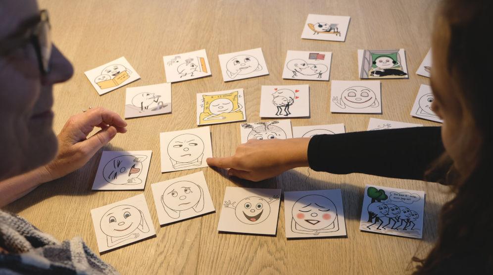 Samtalekort fra Madam Bachs Forlag 1